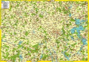 Landkarte Nord-Masuren