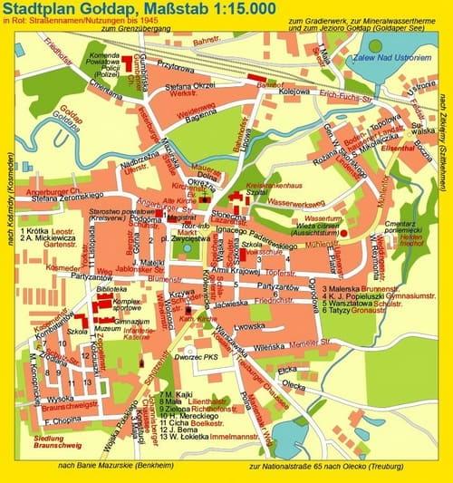 Stadtplan Goldap
