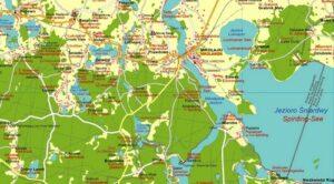 Landkarte Süd-Masuren