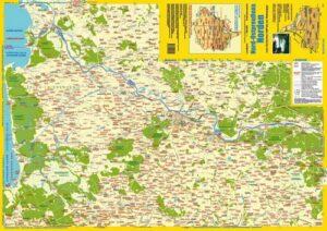 Landkarte Nord-Ostpreußens Norden (vom Kurischen Haff bis zur Szeszuppe)