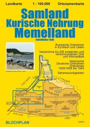 Landkarte Samland