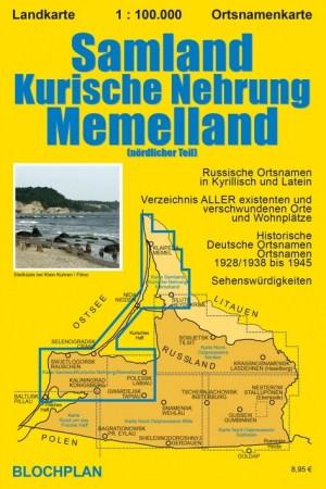 Landkarte Samland / Kurische Nehrung / Memelland