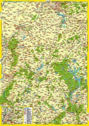 Landkarte Westpreußen östlich der Weichsel und Danziger Werder