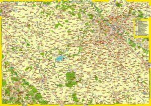 """Landkarte """"Niederschlesiens Mitte"""""""