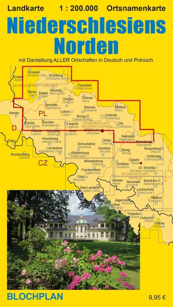 Landkarte Niederschlesiens Norden