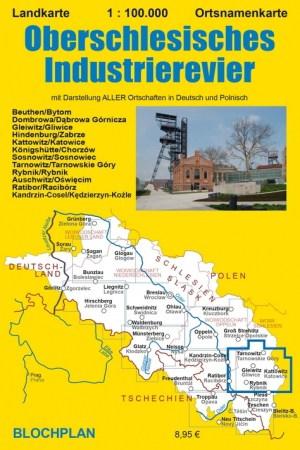 """Landkarte """"Oberschlesisches Industrierevier"""""""