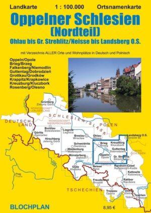 Landkarte Oppelner Schlesien Nord