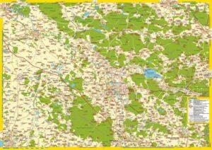 """Landkarte """"Oppelner Schlesien (Nordteil)"""""""