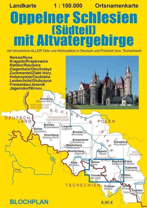Landkarte Oppelner Schlesien Südteil