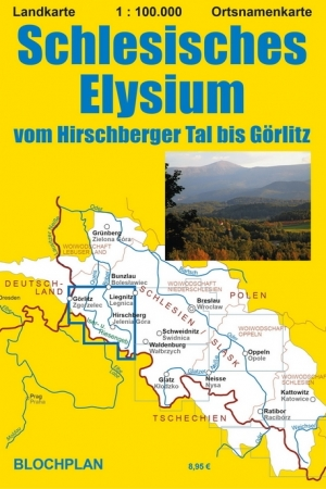 """Landkarte """"Schlesisches Elysium, vom Hirschberger Tal bis Görlitz"""""""