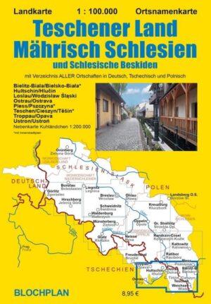 Landkarte Teschener Land Mährisch Schlesien