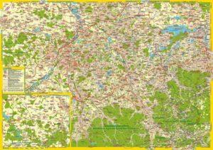 """Landkarte """"Teschener Land, Mährisch Schlesien und Schlesische Beskiden"""""""