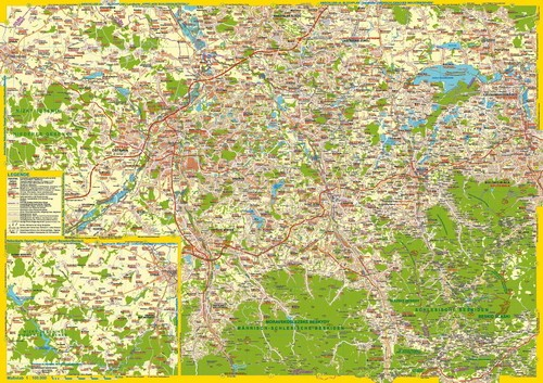 Landkarte Teschner Land Mährisch Schlesien Planseite 1:100.000
