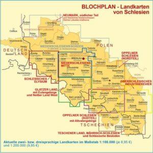 Landkarten Schlesien