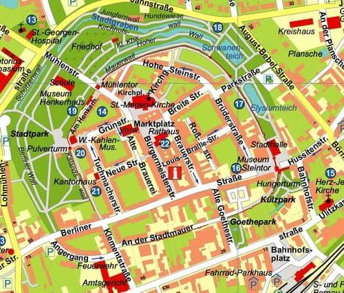 Ausschnitt Innenstadt Bernau aktuell