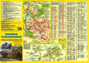 Stadtplan Insterburg 1932/Tschernjachowsk heute