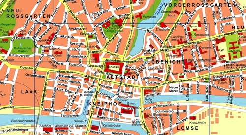 Ausschnitt aus dem Plan Königsberg 1931