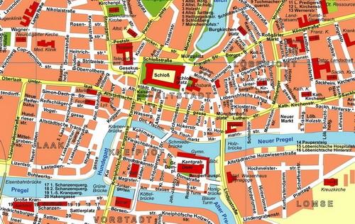 Ausschnitt Innenstadtplan 1931