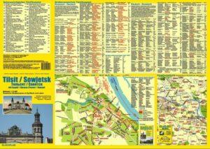 Stadtplan Tilsit/Sowjetsk
